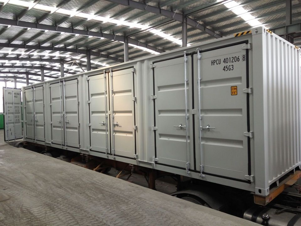 40'HC New (1-trip) Shipping Container + 4 x Side Doors - Custom Cubes