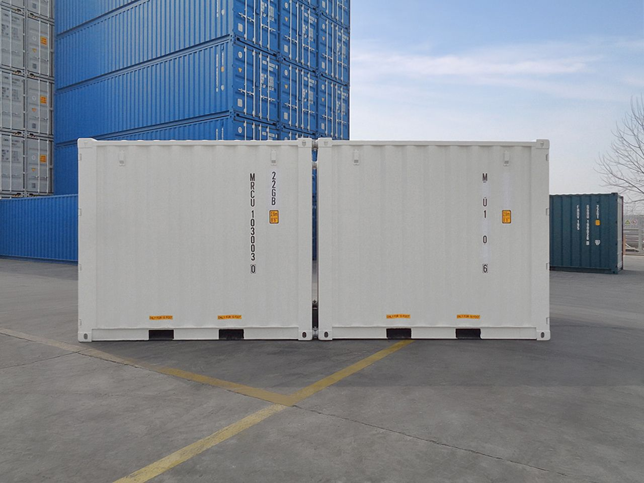 10'STD New (1-trip) Shipping Container - Custom Cubes