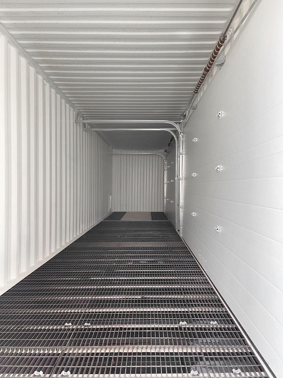 40'HC HAZCON Containment unit w/ Overhead doors - Custom Cubes