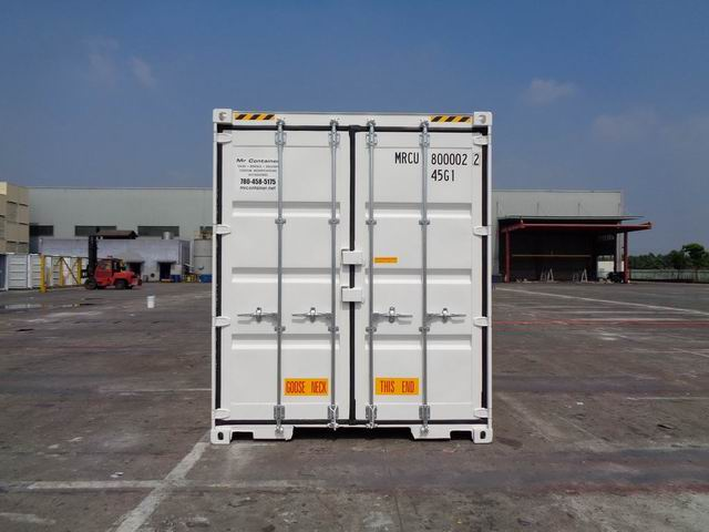 """40'HC New """"Double Door"""" (1-trip) Shipping Container - Custom Cubes"""