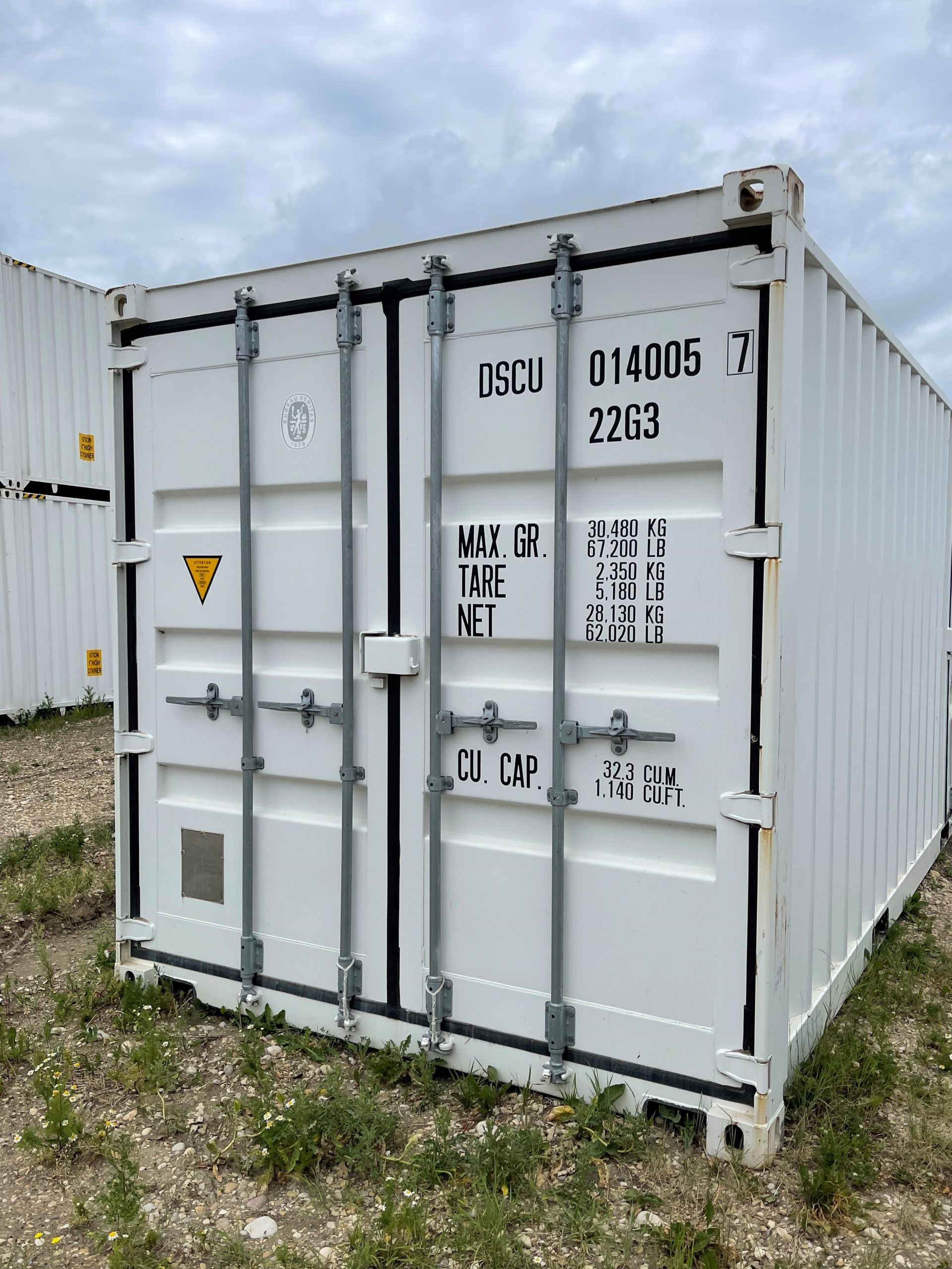 20′ STD (1-Trip) Shipping Container Tri Door - Custom Cubes