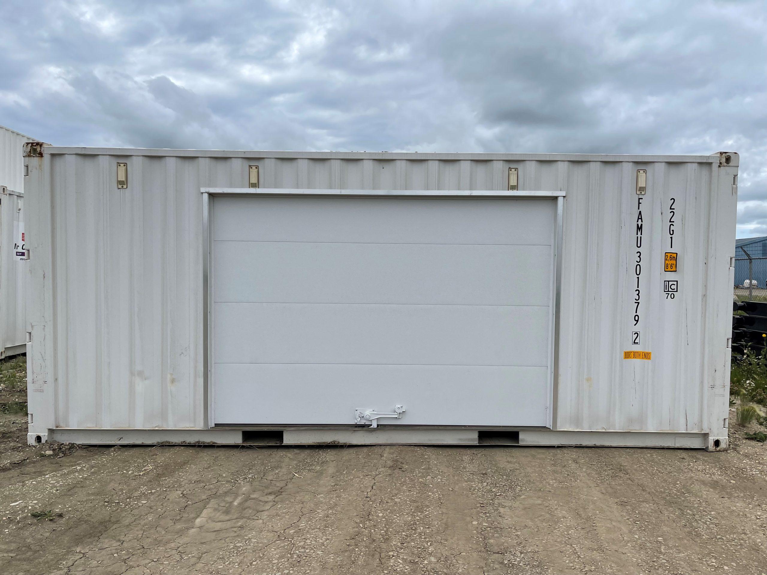 20′ STD (1-Trip) Shipping Container Overhead Door + Double Door - Custom Cubes