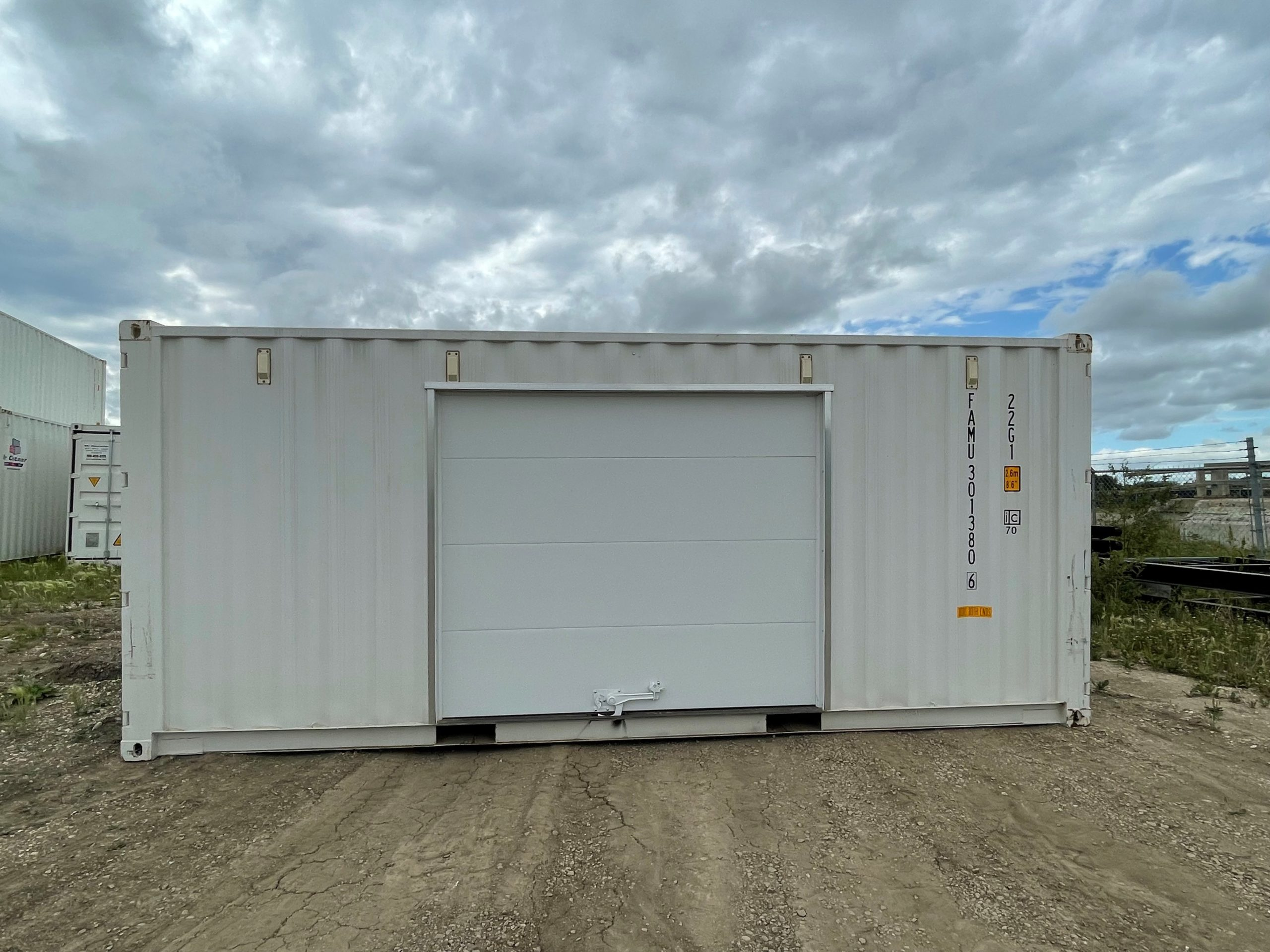 20′ STD (1-Trip) Shipping Container Overhead Door - Custom Cubes